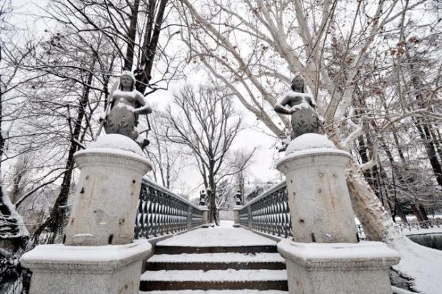 snow in milan parco sempione
