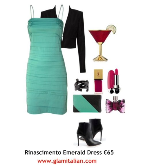 Rinascimento Emerald Dress